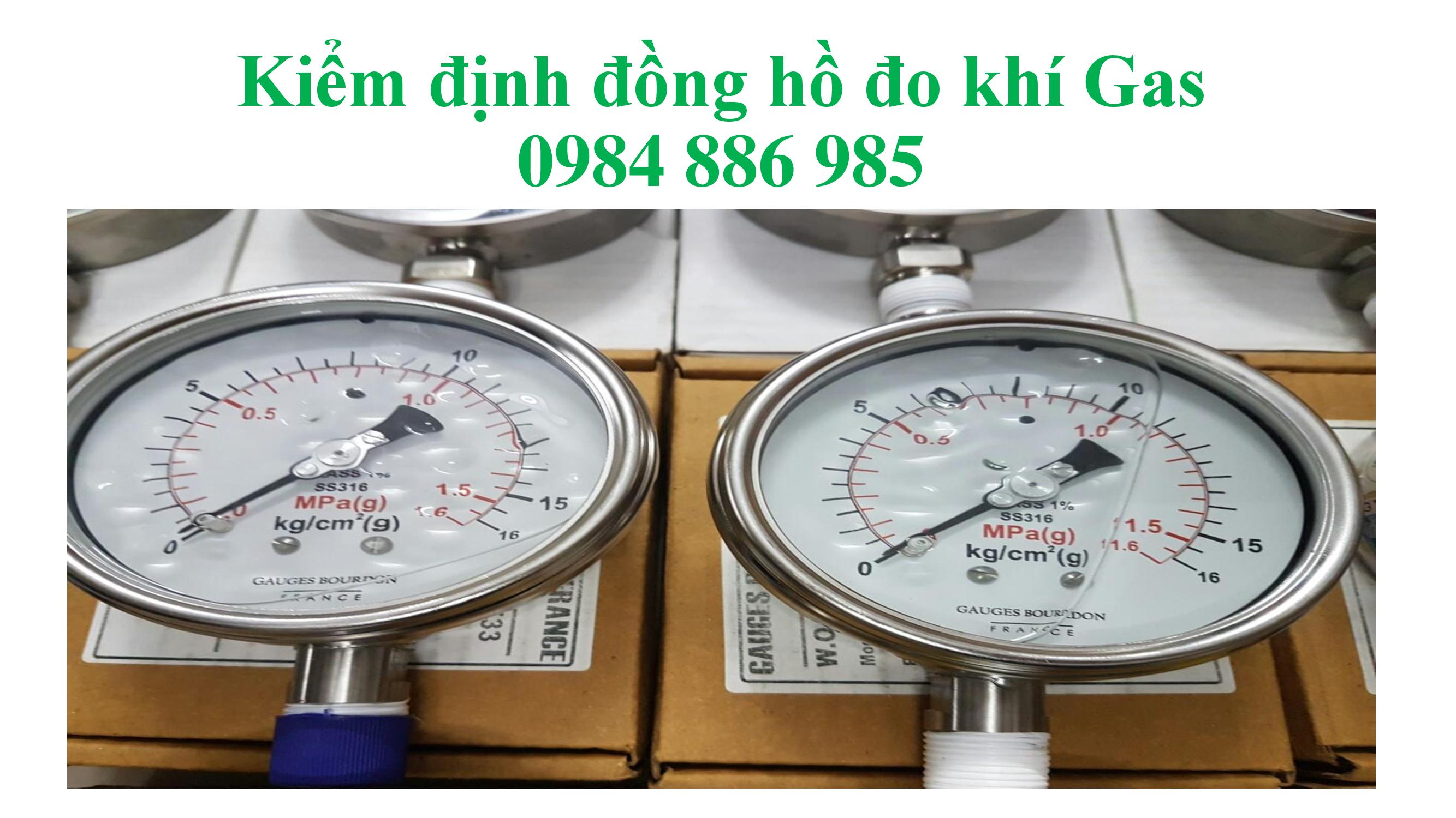 Kiểm định đồng hồ đo khí gas