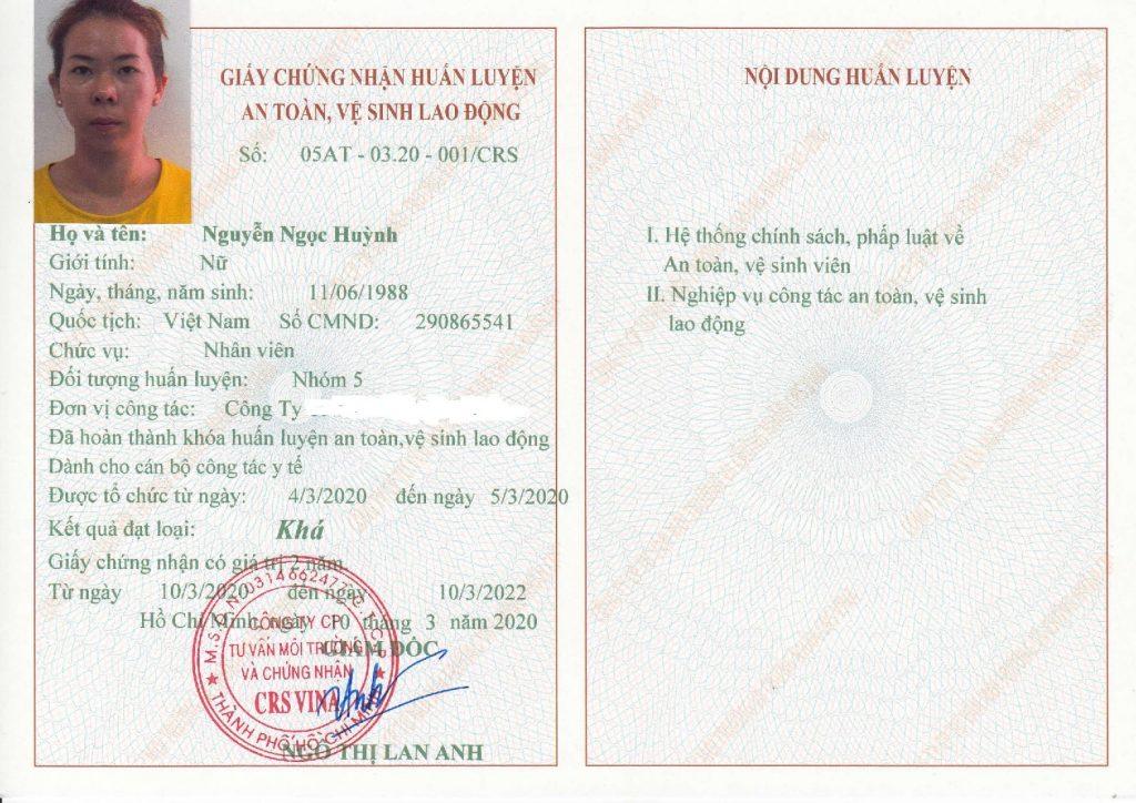 giấy chứng nhận nhóm 5 y tế